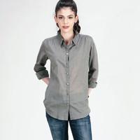 Kemeja Lengan Panjang / Olive Green Shirt 24365L5GN - Logo Jeans