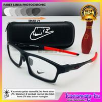 Kacamata Minus Pria Nike Sporty Lensa Photocromic Antiradiasi Backwind