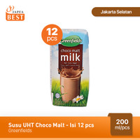 Susu UHT Choco Malt Greenfields 200 ml - Isi 12 pcs