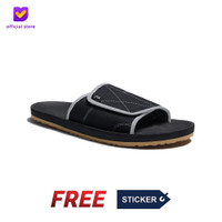 Sendal Pria Rumah Slip On Footstep Footwear - Comfy Black White