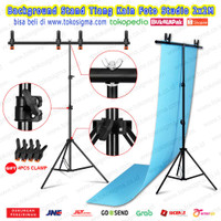 Backgroud 2x2 M T Stand Tripod Tiang Green Screen Backdrop Foto Studio