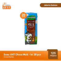 Susu UHT Choco Malt Greenfields 125 ml - Isi 20 pcs