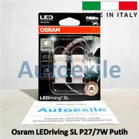Osram LEDriving SL P27/7W Putih White LED 3157 Italy Lampu Rem Mobil