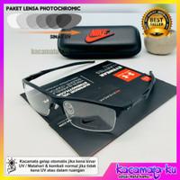 Kacamata Minus Plus Pria Sporty Photocromic Nike Halfwayer Antiradiasi