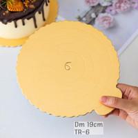 TATAKAN KUE TART CAKE BOARD BULAT DIAMETER 19cm