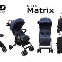 Stroller Baby Elle Kereta Dorong Bayi BabyElle 515 Matrix - Black