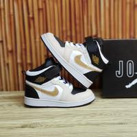 Sepatu anak sneaker Nike Jordan High Gold Grade Original
