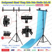 Backgroud 2x2.4M T Stand Tripod Kain Green Screen Backdrop Foto Studio
