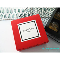 Box Merah Sekat 16x16x5 Kotak Cookies Box Imlek Natal Souvenir Kado