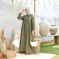 [REAL PICTURE] BELVINA DRESS HAZELNUT IMPORT TANAH ABANG PGMTA METRO