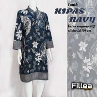 fillea Kipasnavy new atasan batik wanita baju kerja wanita modis murah