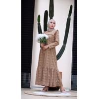 [REAL PICTURE] IRENE BROCADE DRESS BRUKAT SATIN TANAH ABANG PGMTA