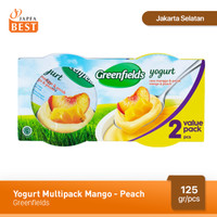 Greenfields Yogurt Mango-Peach 125 gr - Isi 2 Pcs