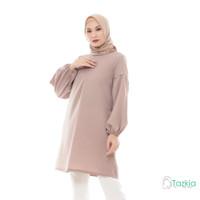 Atasan Muslim Wanita | Noya Tunik Cokelat | S M L XL | Original