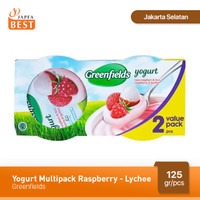 Greenfields Yogurt Raspberry-Lychee 125 gr - Isi 2 Pcs