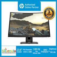 HP X24c Monitor Gaming 24 Inch 144 Hz AMD FreeSync GARANSI 3 TAHUN