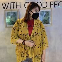 Outer Muslim / Non Mus / Kardigan Panjang Model Ikat / Luaran / Kimono