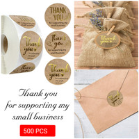 Stiker THANK YOU FOR SUPPORTING MY SMALL BUSINESS (500PCS GOLD)