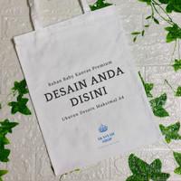 Tote bag Custom Bahan Kanvas/Blacu Free Desain Warna Berkualitas PO