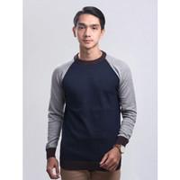 Sweater Rajut Pria Gomuda - O-Neck Blur Navy