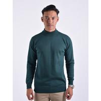 Sweater Rajut Pria Gomuda Mock Turtleneck - Hunter Green