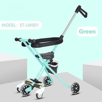 MICRO TRIKE magic stroller balita bayi with LED WHEELS FREE PAYUNG - Tosca