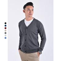 Sweater Rajut Pria Gomuda - Cardigan Clean Big Size