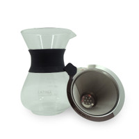 LATINA SANDGLASS CARAFE SET (V60 METAL DRIPPER + SERVER 400ML)
