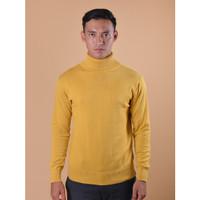 Sweater Rajut Pria Gomuda Signature Roll Neck - Mustard - Mustard, XL