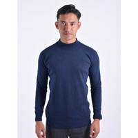Sweater Rajut Pria Gomuda Mock Turtleneck - Navy