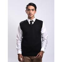 Sweater Rajut Pria Gomuda - Vest/Rompi Hitam