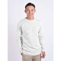 Sweater Rajut Pria Gomuda O-Neck Twist - Silver
