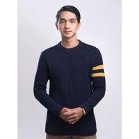 Sweater Rajut Pria Gomuda O-Neck Cord - Navor