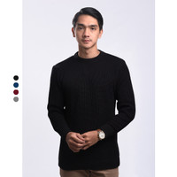 Sweater Rajut Pria Gomuda O-Neck Cord