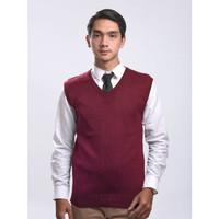 Sweater Rajut Pria Gomuda - Vest/Rompi Marun
