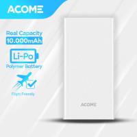 ACOME Powerbank 10000mAh 2 USB Output - Garansi Resmi 18 Bulan - AP103 - Putih