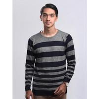 Sweater Rajut Pria Gomuda O-Stripe - Navy