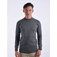 Sweater Rajut Pria Gomuda Mock Turtleneck - Abu Tua