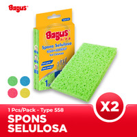 Twin Pack Bagus Sabut Spons Selulosa 1's Type 558