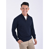 Sweater Rajut Pria Gomuda Signature Corn Shape Button Zip - Navor - Navor, M