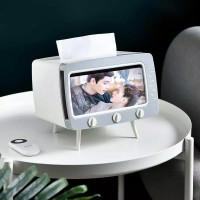 Tissu Box Tv Kotak Tissu Model TV Multifungsi plus Holder Hp