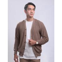 Sweater Rajut Gomuda Signature Cardigan Cord - Mocca