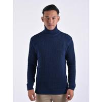Sweater Rajut Pria Gomuda Cord TurtleNeck - Navy