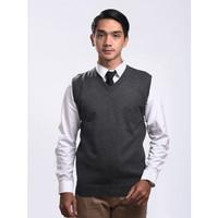 Sweater Rajut Pria Gomuda - Vest/Rompi Abu Tua
