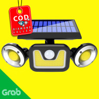 Lampu Solar Panel Sensor Gerak PIR Outdoor Waterproof 83COB LED-208ABS