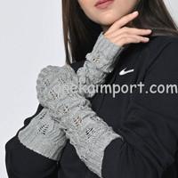 Sarung Tangan Lengan Panjang Wanita Rajut Fingerless Longjohn winter