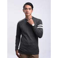 Sweater Rajut Pria Gomuda - O-Man Abu Tua