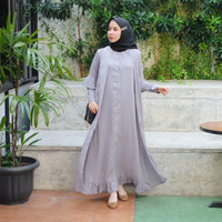 [REAL PICTURE] DRESS OUTTERSET WOLLPEACH TANAH ABANG PGMTA METRO