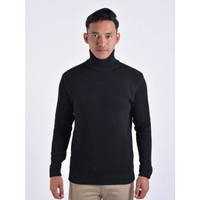 Sweater Rajut Pria Gomuda Cord TurtleNeck - Hitam
