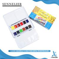 Cat Air Sennelier Classic Aquarelle 12 Half Pan Metal Tin Watercolor